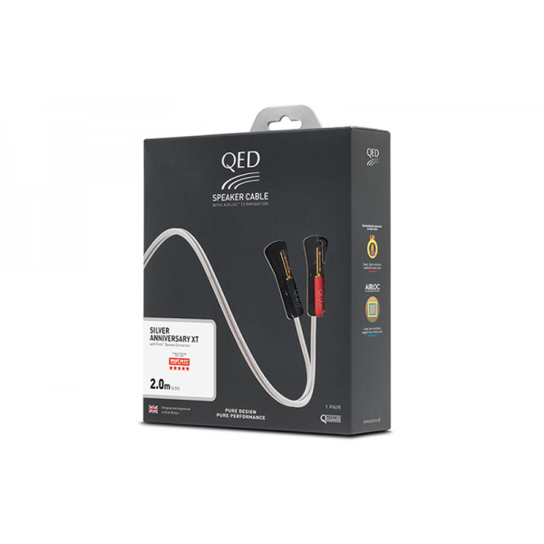 Акустический кабель QED SILVER ANN XT PRE-TERMINATED SPEAKER CABLE 2М